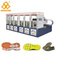 Quality CE SGS 6 Stations Rubber Shoe Sole Making Machine 1-2 Color 2 Years Gurantee for sale