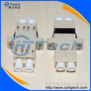 Quality Multimode Duplex LC Optical Fiber Adapter , LC Fiber Optical Adapter MM for sale