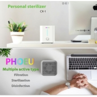 Quality Table top mini purifier with UVC LED disinfection function and active carbon PM2.5 purification for sale