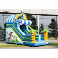 Buy Tropical Inflatable Dry Slide , Surfing Happy Boy PVC Slide For Kids at wholesale prices