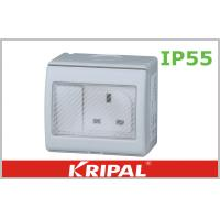 Quality Flat Pin 13A IP55 Weatherproof Switch Socket 250V With British Standard for sale