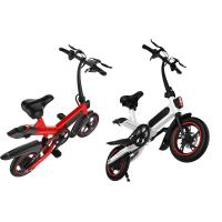 Compact Size Small Folding Electric Bike 36V 10AH Battery 17.5KG 107 * 45 * 100CM