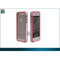 Quality Durable Tpu and Silicon 2tone Color Bumper for Iphone 5 with Metal Button OEM for sale