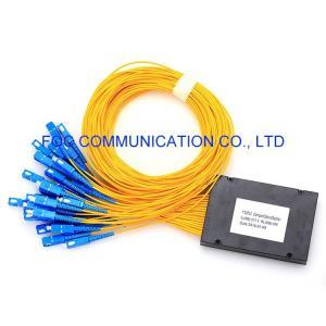Quality G.657A SC UPC 1650nm 1x32 Fiber Optic Splitter Telecom ABS Module for sale
