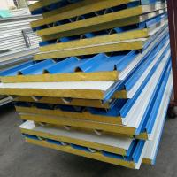 Quality 50mm A grade fire rating glass wool insulated sandwich roof panel use 20ft container house for sale
