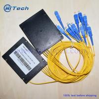 Buy cheap ABS Box Module 1x8 Fiber PLC Splitter for FTTH 1in 8 out Fiber Optic Splitter from wholesalers