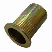 Quality Threaded Insert Flat Head Knurled Open Head Rivet Nut  for sale