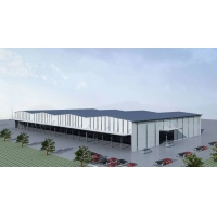 Quality Painting Logistics Building Low Carbon Steel Warehouse With Single Panel for sale