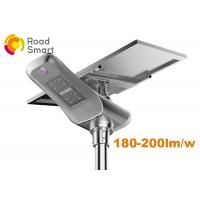 Quality 50W 9300lm Outdoor Solar Panel Street Lights System 6000K CCT With Lithium Battery for sale