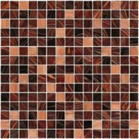 Brown series with gold line glass mosaic mix pattern living room backspalsh