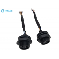 Quality Panel Mount M16 Waterproof Female With NSH Series 1.0mm JST 8P NSHR-08V-S 28AWG Cable for sale