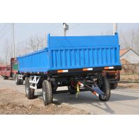 China hot sales 4 wheel 10 ton tandem axle agriculture farm tractor dump tipping trailer on sale