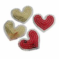 China Machine embroidered sequin applique patch on sale