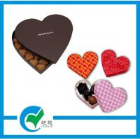 Quality Custom Heart Shaped Girls Art Paper / Cardboard Jewellery Boxes, CMYK Printing for sale