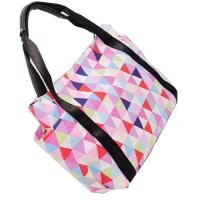 Quality Portable Colorful Polyester Tote Bags With Leather Handle Custom Made for sale