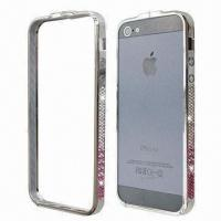 Quality Diamond Metal Bumpers for iPhone 5, Comes in Various Rhinestone Colors for sale