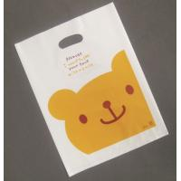China Milk White Die-Cut Polythene Shopping Bags on sale