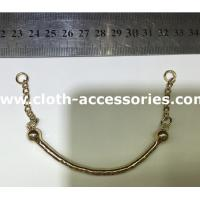 Rose Gold Metal Garment Accessories / Chain Collar Necklace For Lady