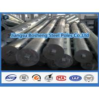 China Galvanized square tubing Overhead Line Electrical Power Pole custmised Color on sale