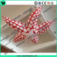 Quality Sea Event Inflatable Animal Giant Inflatable Cartoon Red Inflatable Starfish for sale