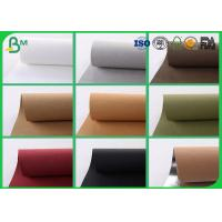 Quality Colorful Washable Kraft Paper Fabric , 150CM Reinforced Kraft Paper For Present Box for sale