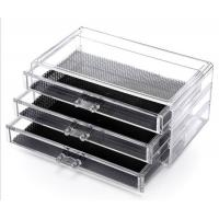 Quality Transparent cosmetics space saving storage shelf display stand rack wholesale makeup organizers for sale