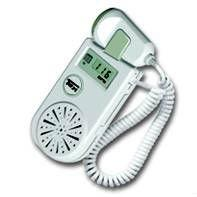Buy handheld  fetal doppler ultrasonic probe 3 Mhz with dry battery at wholesale prices
