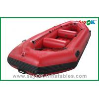 China Durable Adults PVC Rigid Inflatable Boats 3 - 8 Persons Water Park Entertainment on sale