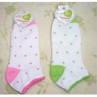 Quality Customize Knitted Cotton + Spandex + Nylon Jacquard Girl's Short Ankle Socks For Summer for sale