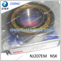 Quality NSK NJ207EM Cylindrical Roller Bearing With Brass Cage for sale