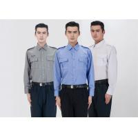 Quality Classic Stereo Lapel Male Security Guard Dress Uniform With Detachable Security Badges for sale