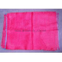 Quality Waterproof Plastic Woven Mesh Bags , PE Polyethylene Red Mesh Produce Bags for sale