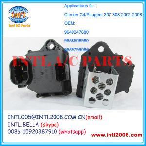 Quality fan Rheostat blower motor resistor For Citroen C4/Peugeot 307 308 2002-2008 9649247680 965 for sale