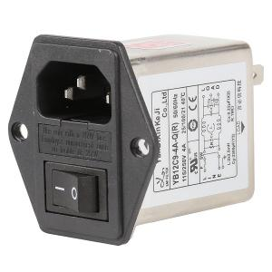 Quality 10A 6A 3A Plug In RFI Filter Low Pass IEC Socket Inlet Three In One for sale