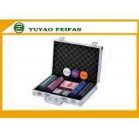 Quality Travel Promotional Poker Chips Sets With Aluminum Case Traveling for sale