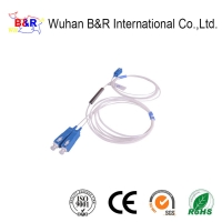 Quality G657A1 1x2 Fiber Optic PLC Splitter With UPC Connector for sale