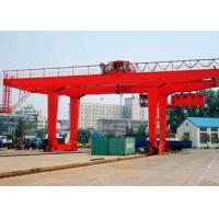 Quality PLC Automatic Control Industrial Gantry Crane , Rail Mounted Container RMG Outdoor Gantry Crane for sale
