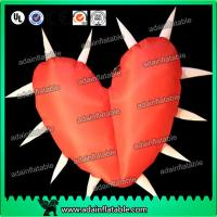 Quality Factory Lovely Big Red Inflatable Heart With Led Lights For Festival , Diameter 1.5M for sale