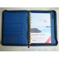 Quality A5 Zipper Notebooks, Leather Portfolios, with Calendar, Visit Card Holder and Phone Book for sale