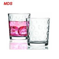 Quality Mouth blown circleware circle glass tumbler with thick base for sale