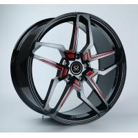China 22x10 Gloss Black With Red 1-PC Mercedes Benz Wheels on sale