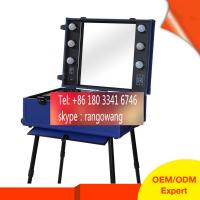 Quality Fashional Trolley Beauty Case PU Material With Mirror for sale