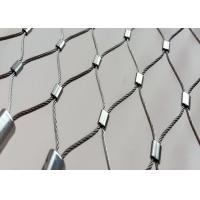 Buy cheap Balcony Balustrade Flexible Stainless Steel Cable Mesh X Tend High Open Area from wholesalers