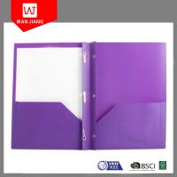 Buy cheap Office supplies hot document file PP plastic 3 prong file folder with two from wholesalers
