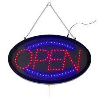 Quality Indoor Outdoor LED Open Sign Lighted Red Blue Letter For Retail Business for sale