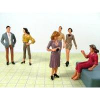 Colorful Scale Model Painted People Figures for Building Model layout P25-6