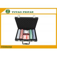 China 200 Pcs Personalised 11.5 Gram Poker Chip Sets With Leather PU Case wholesale
