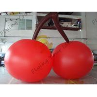 China Red PVC 3m High Cherry Shaped Balloons For Trade Fair Display on sale
