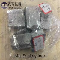 Quality Magnesium Erbium master alloy , MgEr10 , MgEr 20 alloy for sale