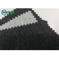 Quality Polyester Viscose 60gsm Brushed Woven Interlining Weft Insert Interlining Shrink Resistant for sale